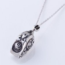The Lord of Annihilation - White Whistle Silver Necklace