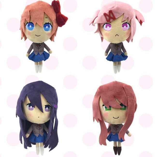Plush Figure Set (4-Pack): Sayori, Natsuki, Yuri & Monika