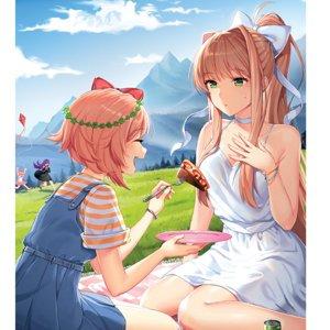 Picnic Series - Sayori & Monika Poster